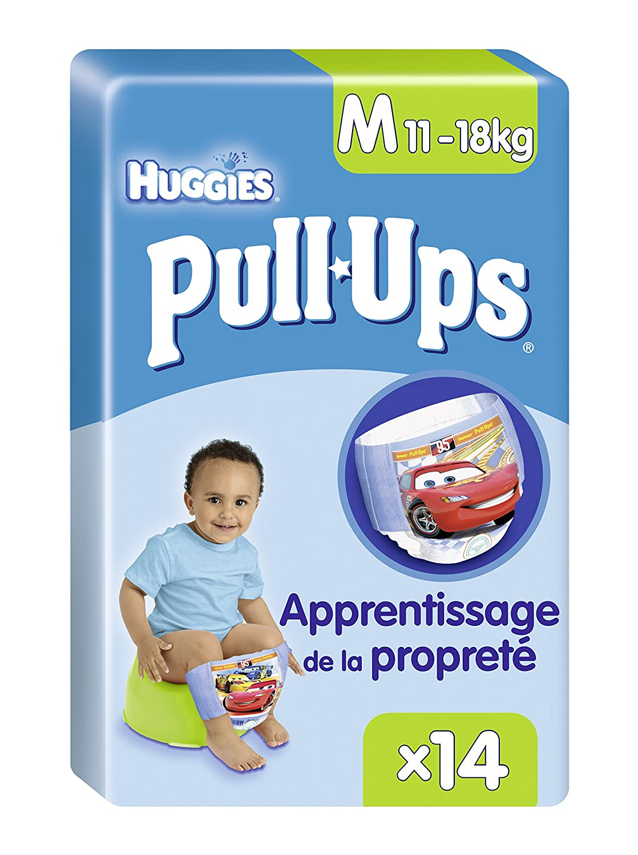 Huggies Pull-Ups Garçon Taille 5/Medium (11-18 kg), Couche-culotte d'Apprentissage de la Propreté Disney Cars x28 Culottes (Lot de 2 Paquets de 14 Culottes) 5029053531267