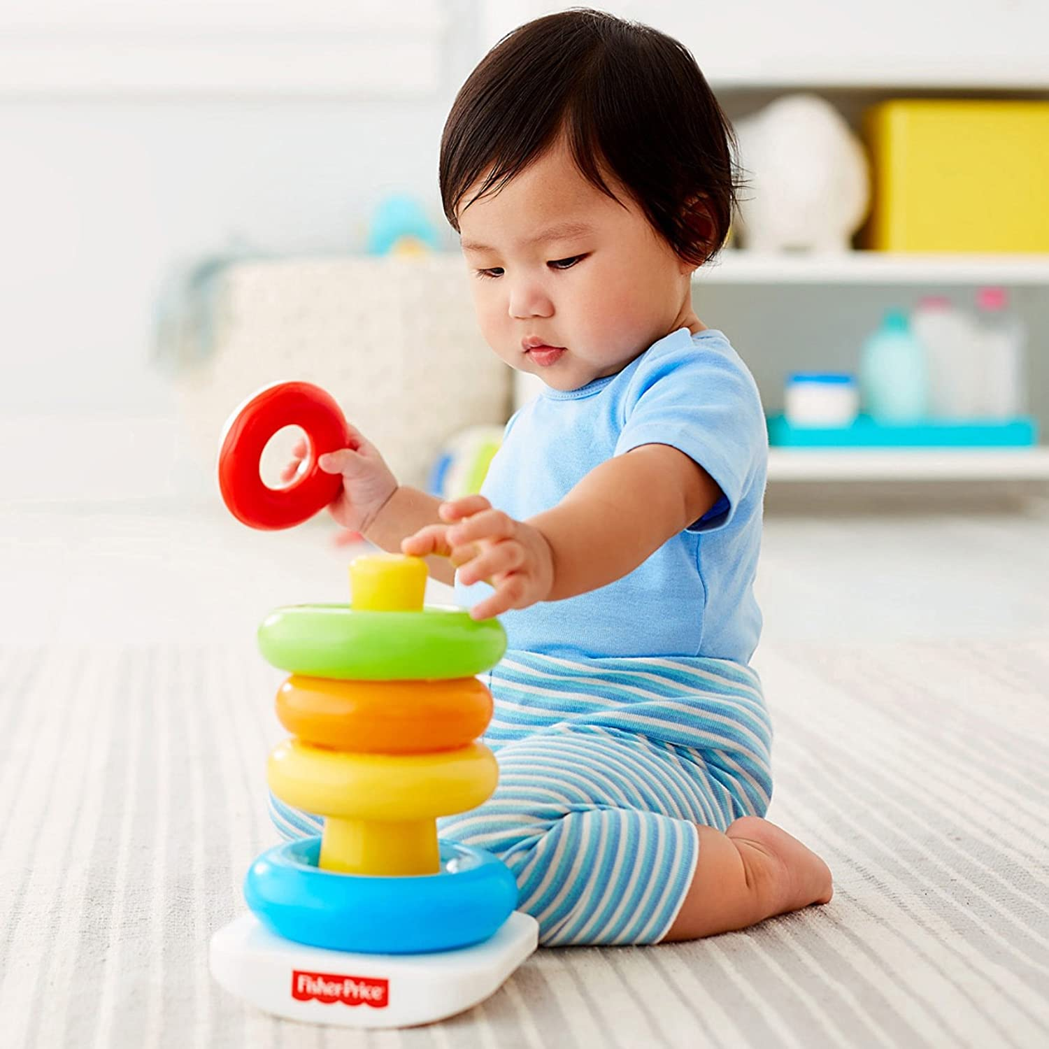 Amazon Fisher Price Brilliant Basics Rock a Stack Toys & Games