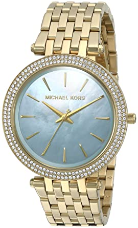 57d016be4b68 Image Unavailable. Image not available for. Color  Michael Kors Women s  Darci Gold-Tone Watch MK3498