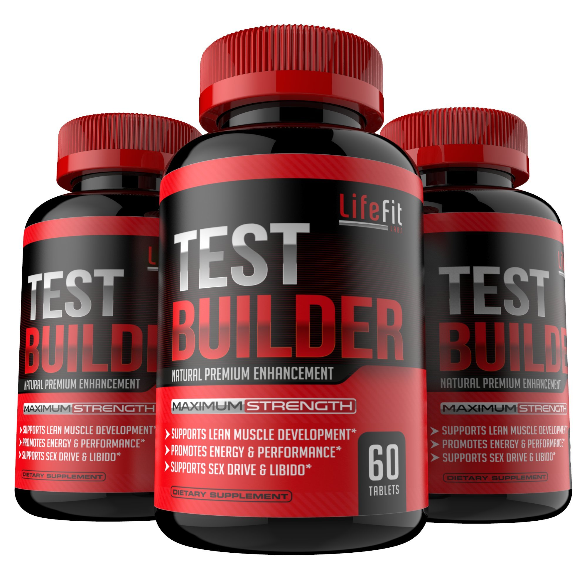 Test Builder - Potent & 100% Natural Testosterone Booster For Men| For Muscle Growth | Increase Stamina | Promotes Healthy Sex Drive and Energy Production | Perfect for Athletes