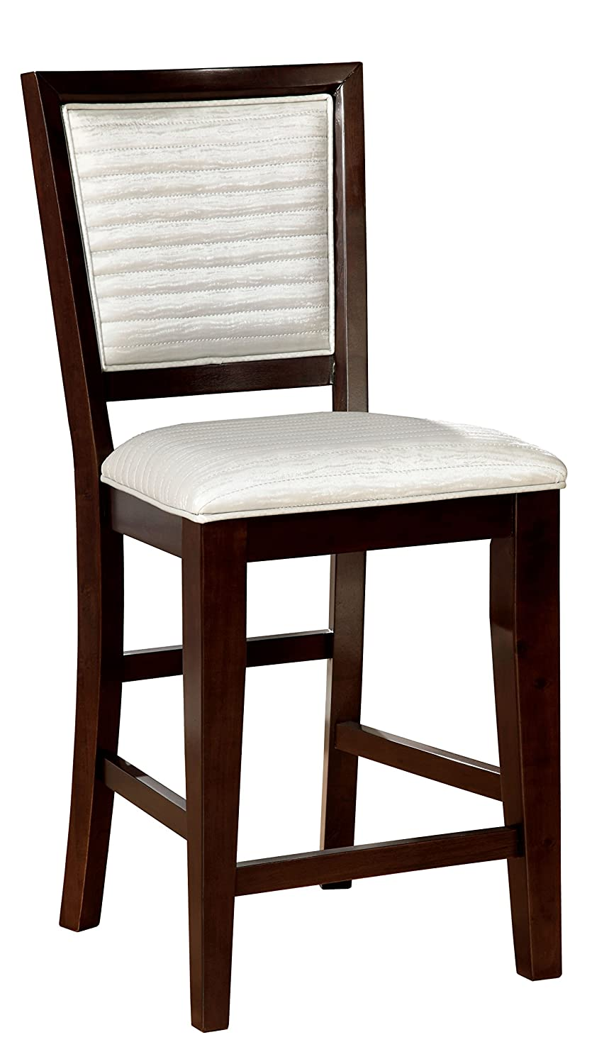 Amazon com furniture of america lagos contemporary pub chair set of 2 chairs