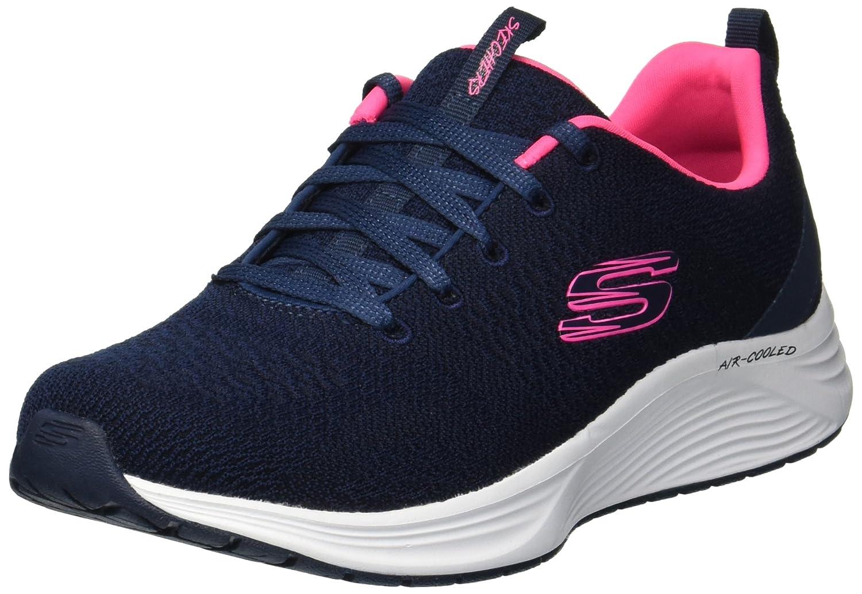 Skechers Women's Skyline Soft Knit Lace-Up Trainer Navy/Pink-Navy-7 Size 7