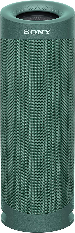Sony SRS-XB23 - Altavoz Bluetooth Potente, con Luces, Extra Bass, Resistente al Agua, Polvo, óxido, Golpes y Larga duración de batería de hasta 12h, Verde
