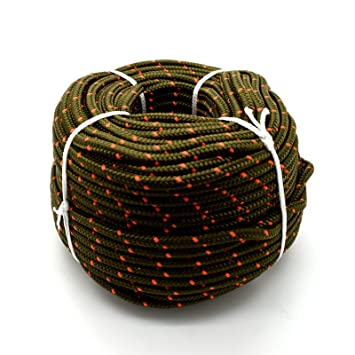 10m red polypropylene rope poly cord 8mm
