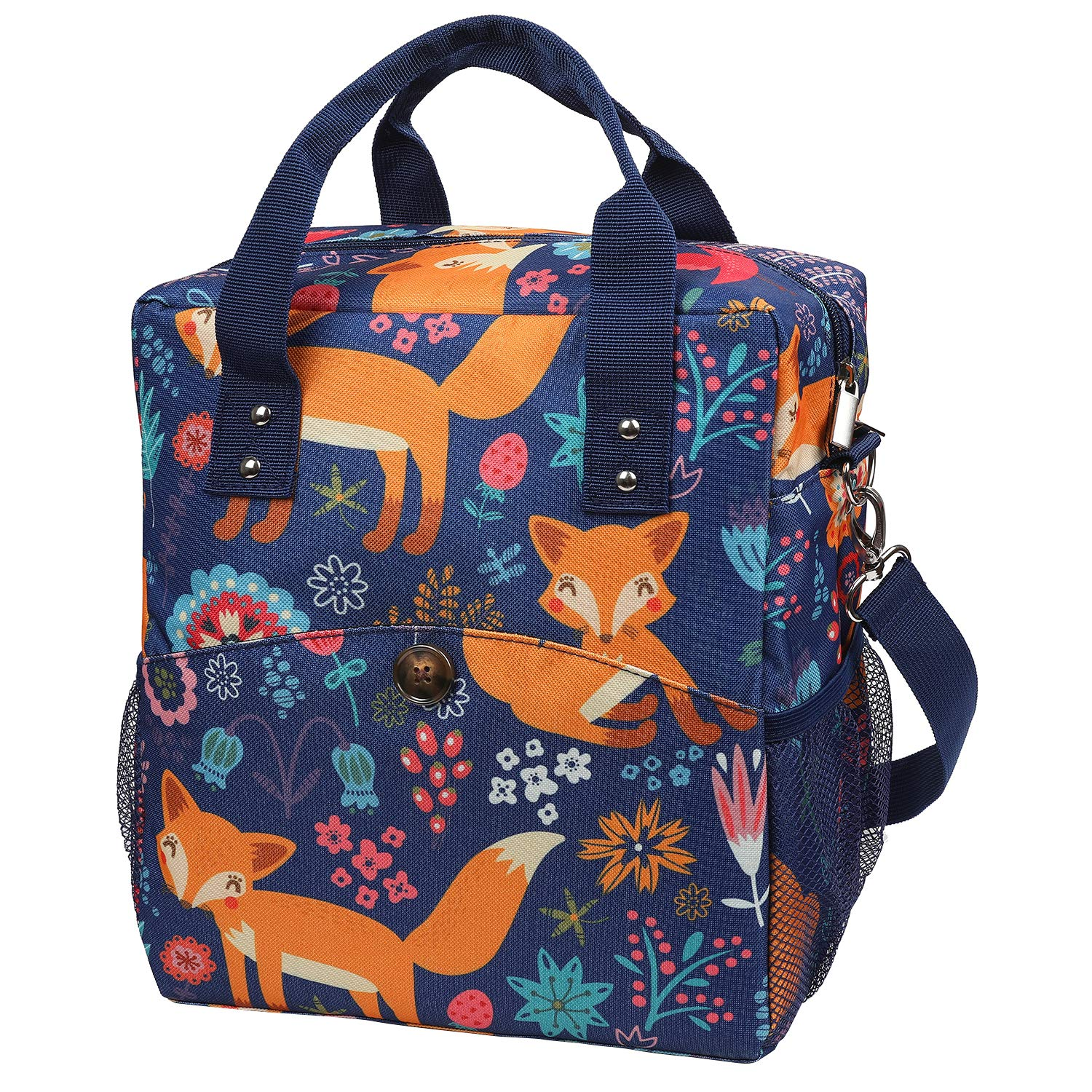 Insulated Cooler Bag For Carrying Lunch Box With Adjustable Shoulder Lunch Bag