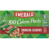 Emerald Nuts, Sriracha Cashews 100 Calorie Packs, 7 Count Box