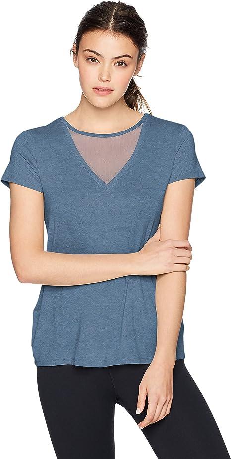 Danskin Womens Mesh Insert Long Sleeve Tee Yoga Shirt