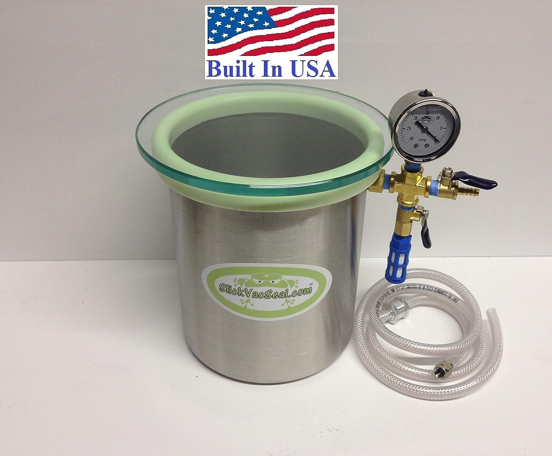 1.5 Gallon SlickVacSeal Wood Stabilizing Steel Vacuum Chamber