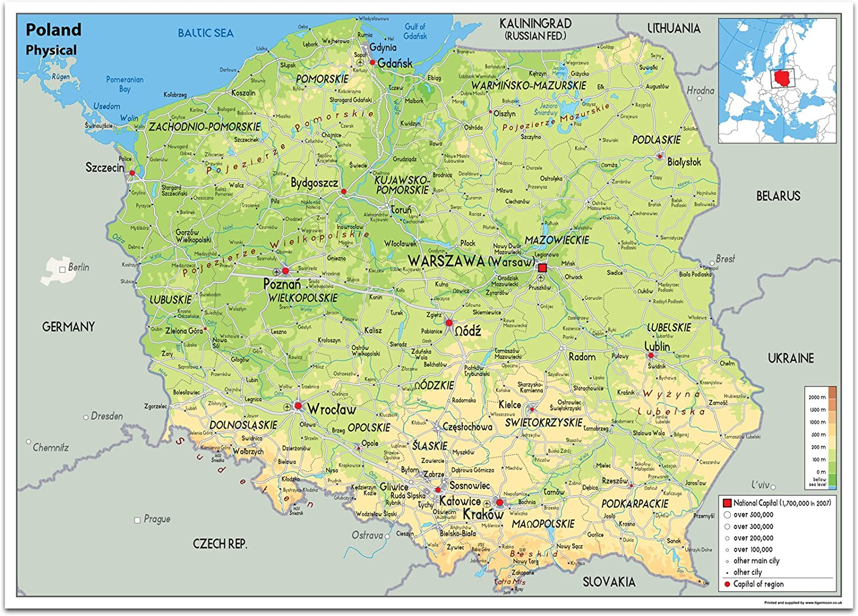 Cartina Messico Fisica