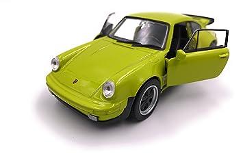 Producto de licencia de automóvil modelo Welly Porsche 911 Turbo 930 1975 1: 34-1: 39 verde: Amazon.es: Coche y moto