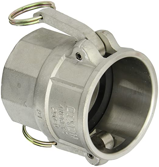 Campbell Fittings E-316-500 Cam and Groove 316 Stainless Stainless Steel 5 5 ID 5 ID 5
