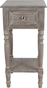 Decor Therapy Simplify One Drawer Accent table, Natural Wood