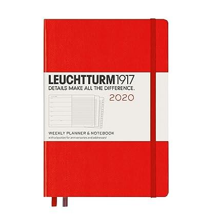 Calendario semanal y cuaderno 2020, tapa dura, A5, 12 meses ...