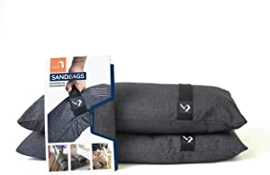 Fillable Umbrella Weights Sandbags for Outdoor Garden Furniture Offset and Cantilever Umbrellas, Trampoline, Drying Rack or Extra Weight for Patio Umbrella Base (Sand Not Included) (2 x up to 55 lbs)
