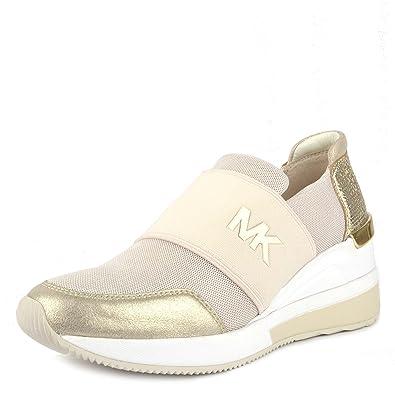 Michael by Michael Kors Zapatos Felix Zapatillas Crema y Oro Mujer 37 Oro: Amazon.es: Zapatos y complementos