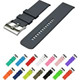 Wearable4U Quick Release Silicone Rubber Watchbands 18mm, 20mm, 22mm and choice of 15 colors