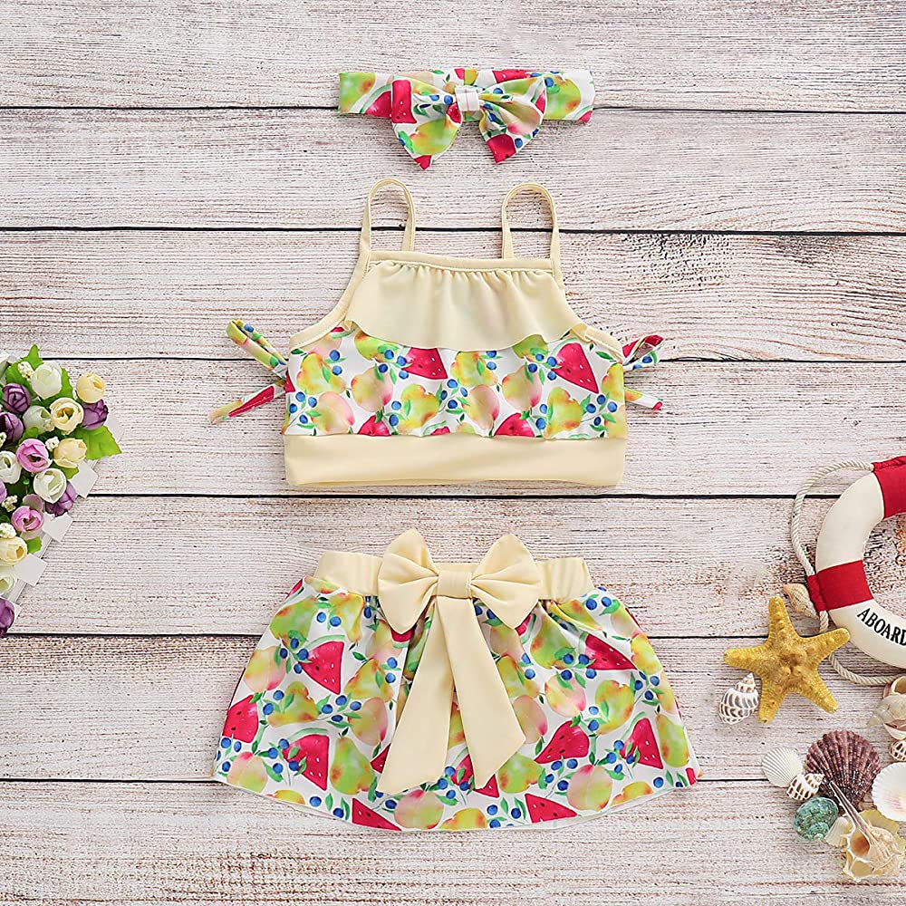 Amazon.com: Conjunto de ropa para bebé, diseño floral con ...