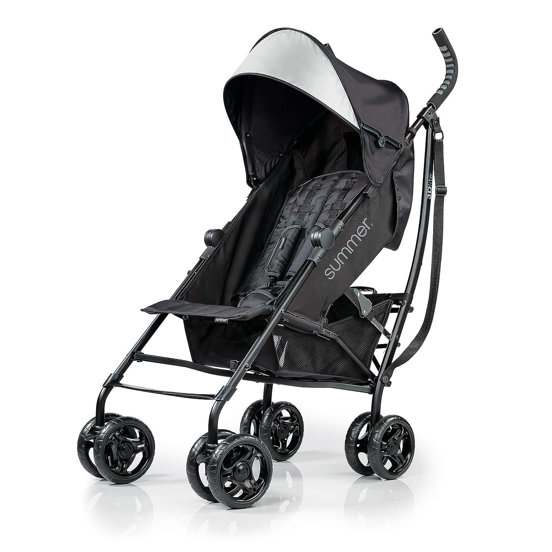 Summer Infant 3Dlite Convenience Stroller, Jet Black, 32843
