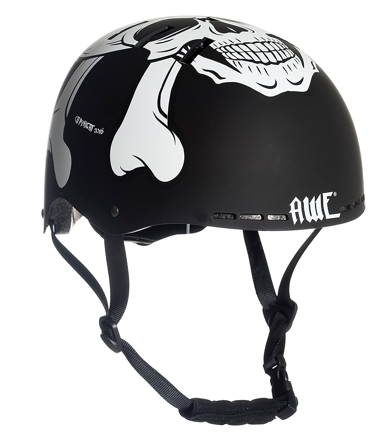 AWE Meet Your Maker BMX Casque Noir 55-58cm Remplacement Gratuit de 5 Ans DE Crash * AWE®