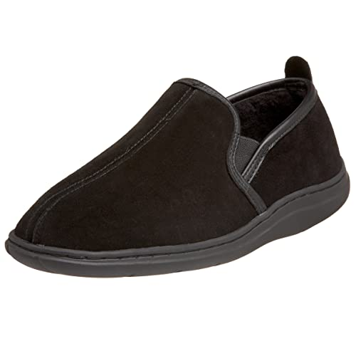 L.B. Evans Men's Klondike Closed Back Slipper,Black,7 EEE US