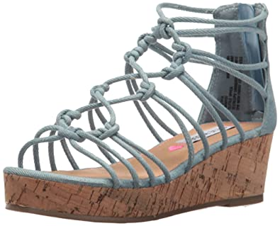 043c0fc7cf6 Steve Madden Girls  JWISTFUL Wedge Sandal Denim 13 M US Little Kid