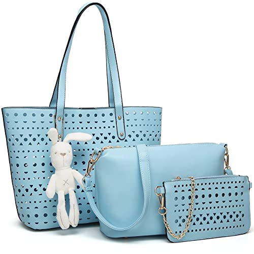 YNIQUE Women Summer Handbags Shoulder Bag Top Handle Purses Designer Tote Bag 3 Bags Set