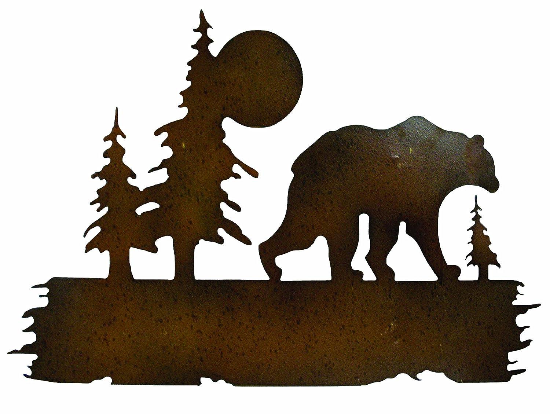 amazoncom gardman  bear wilderness wall art uquot long x  : tree scene metal wall art