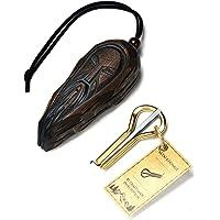"""'s harp met case kaak harp mond harp mondharp maultrommel door Pavel Potkin met ceder case""""Altay Wizard"""""""