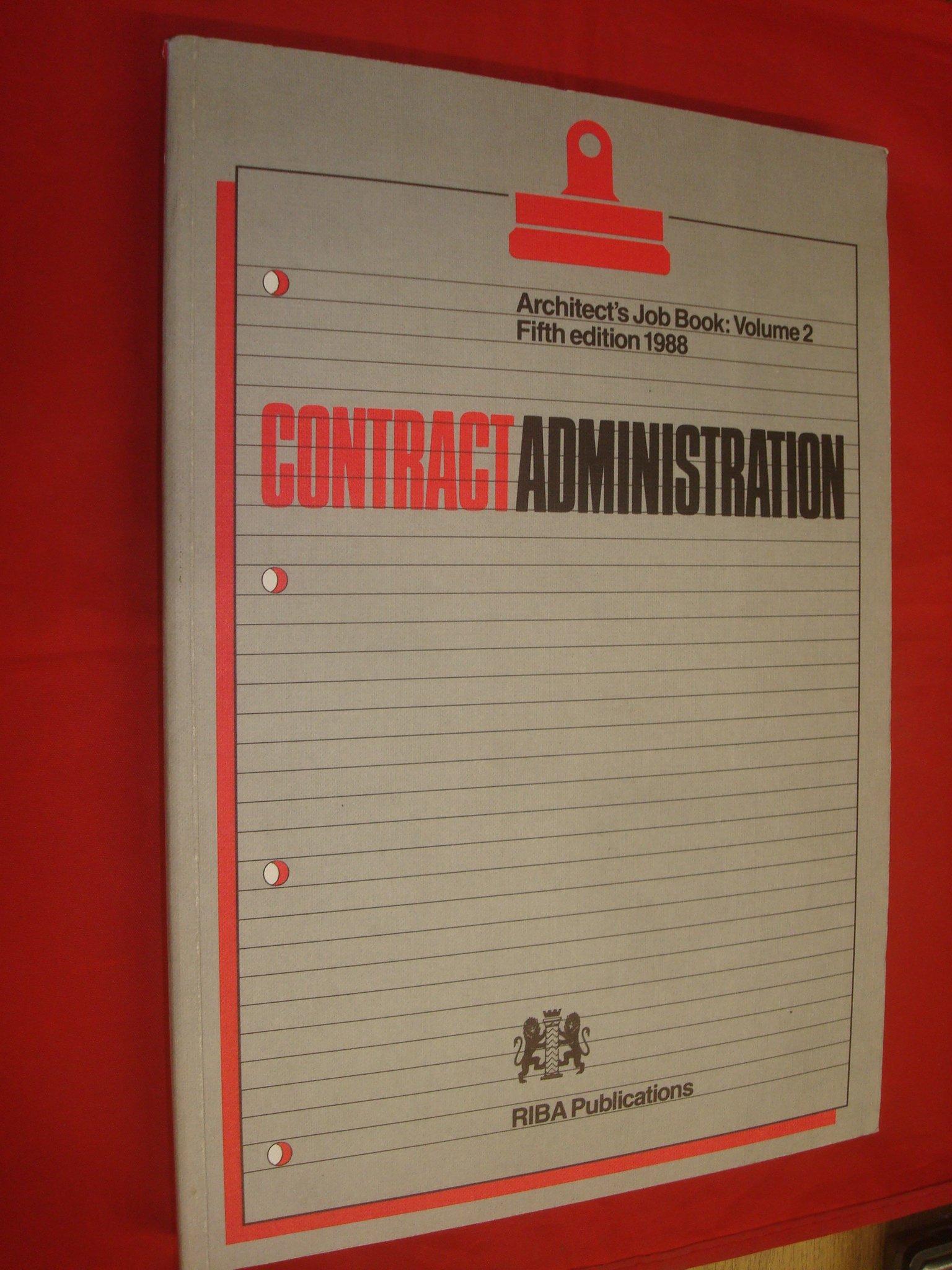 Amazon Architects Job Book Contract Administration V 2