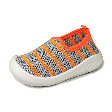 d7e2688b54d6b ZT FUTURE Kids Mesh Breathable Rubber Sole Slip-on Sneakers Toddler Beach  Water Shoes 5Colors