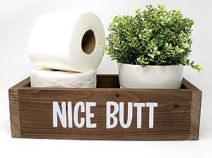 Bathroom Decor Box, Toilet Paper Holder, Toilet Tank Basket, Wooden Toilet Tank Box, Wood Basket, Rustic Home Decor, Bathroom Decor, Bathroom Baskets, Toilet Paper Basket, Bathroom Box, Basket Decor