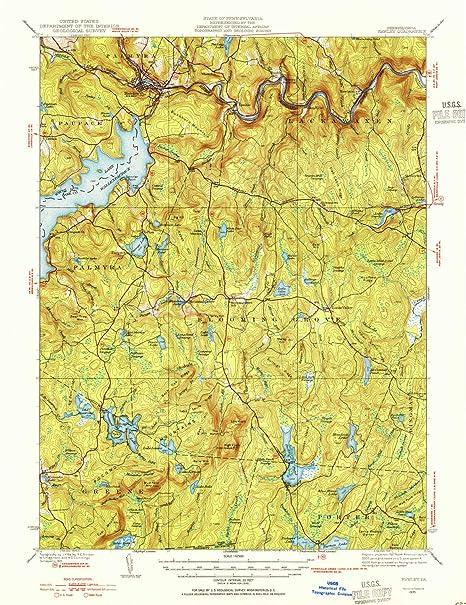 Amazon Com Yellowmaps Hawley Pa Topo Map 1 62500 Scale 15 X 15