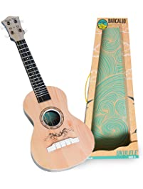 Ukulele Kids Toy With Real Guitar Strings Teaches Girls And Boys The Basics Of Rhythm