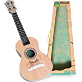 Ukulele Kids Toy with Real Guitar Strings, Teaches Girls and Boys the Basics of Rhythm, Tempo, Strumming and More