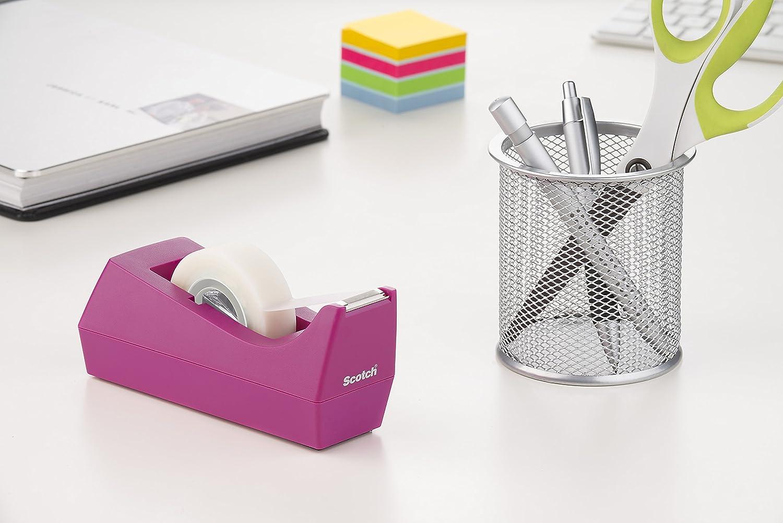 Scotch C38 - Set de dispensador, color rosa y rollo de cinta adhsiva Scotch Magic: Amazon.es: Oficina y papelería