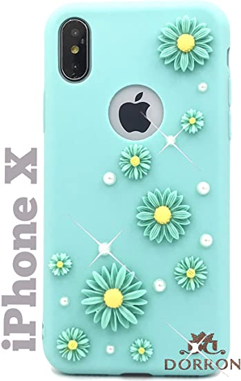 6a2846c3b2f554 DORRON Silicone 3D Pearl Flower Fancy Slim Fit: Amazon.in: Electronics