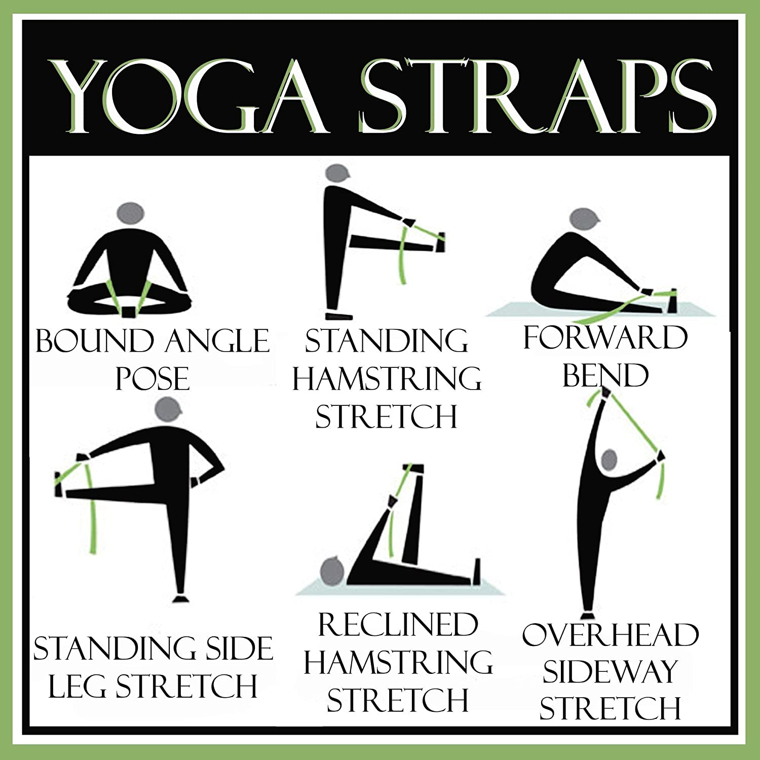 healthnode Yoga Belt//Strap //10 Feet Length //1.5 Width//Yoga Resistance Exercise Bands Straps for Men and Women,Yoga Props Perfect /& Challenging Yoga Posture for Safe
