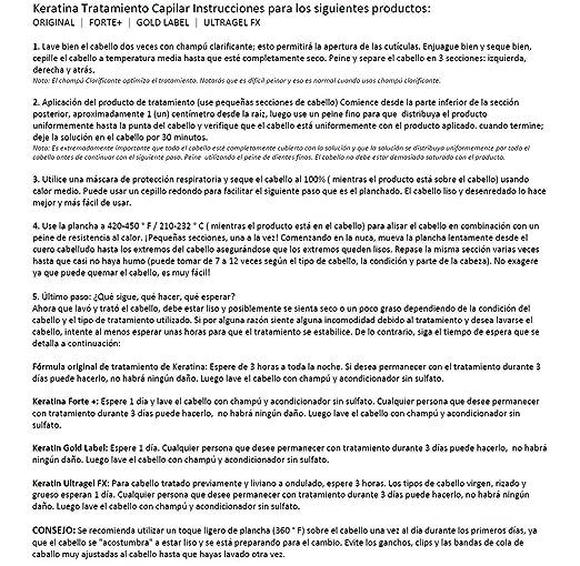 Amazon.com : Keratina Brasilera Tratamiento Capilar por 300ml con Champú Clarificante, Resultados Profesionales, Alisa y Suaviza el Cabello (Keratina por ...