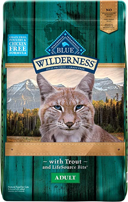 Blue Buffalo Wilderness Rocky Mountain Recipe High Protein Grain Free Natural Adult Dry Cat Food Trout 10 Lb 10 Lb Amazon Co Uk Pet Supplies