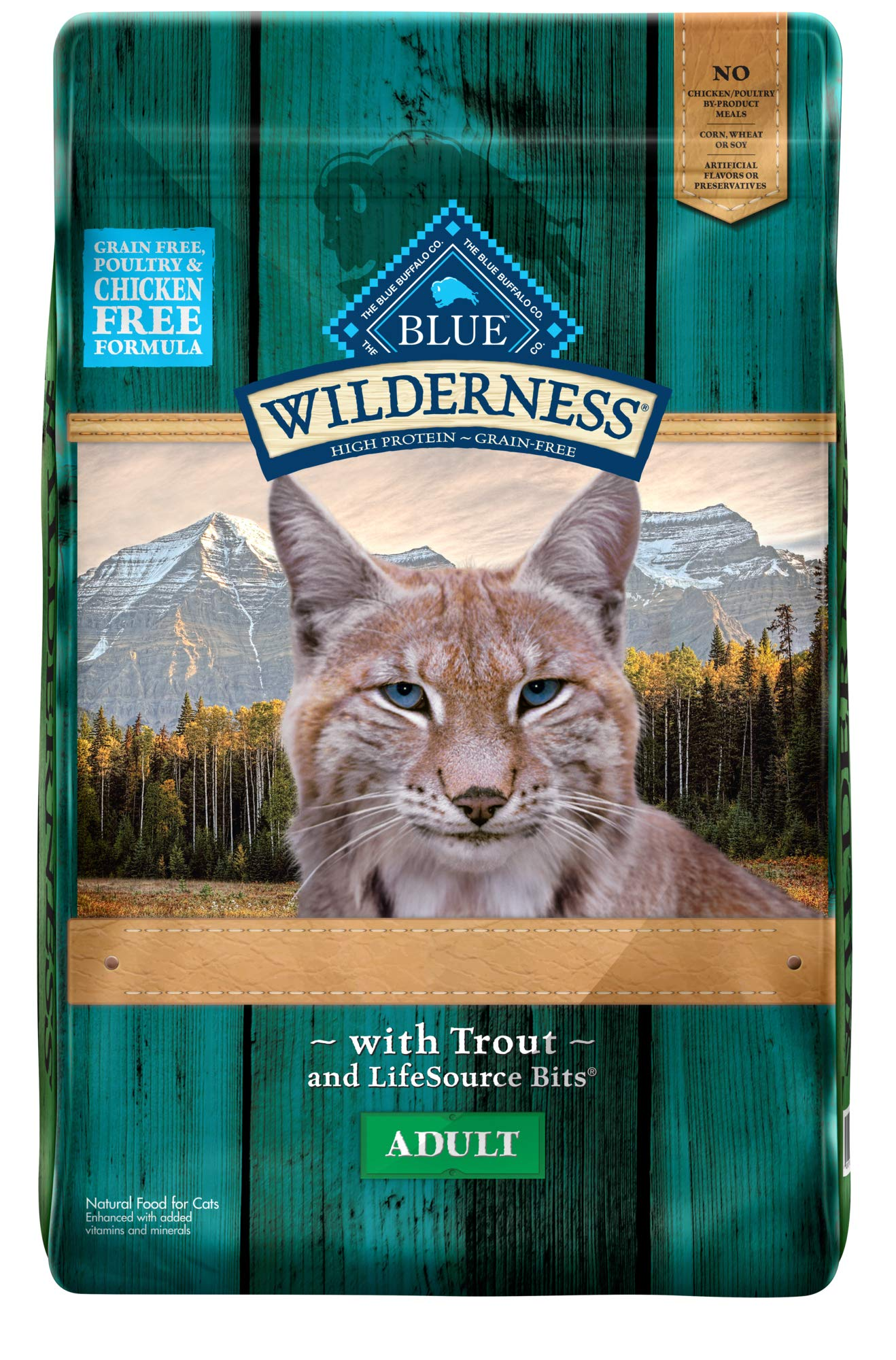 Blue Buffalo Wilderness Rocky Mountain Recipe High Protein Grain Free, Natural Adult Dry Cat Food, Trout 10-lb by Blue Buffalo
