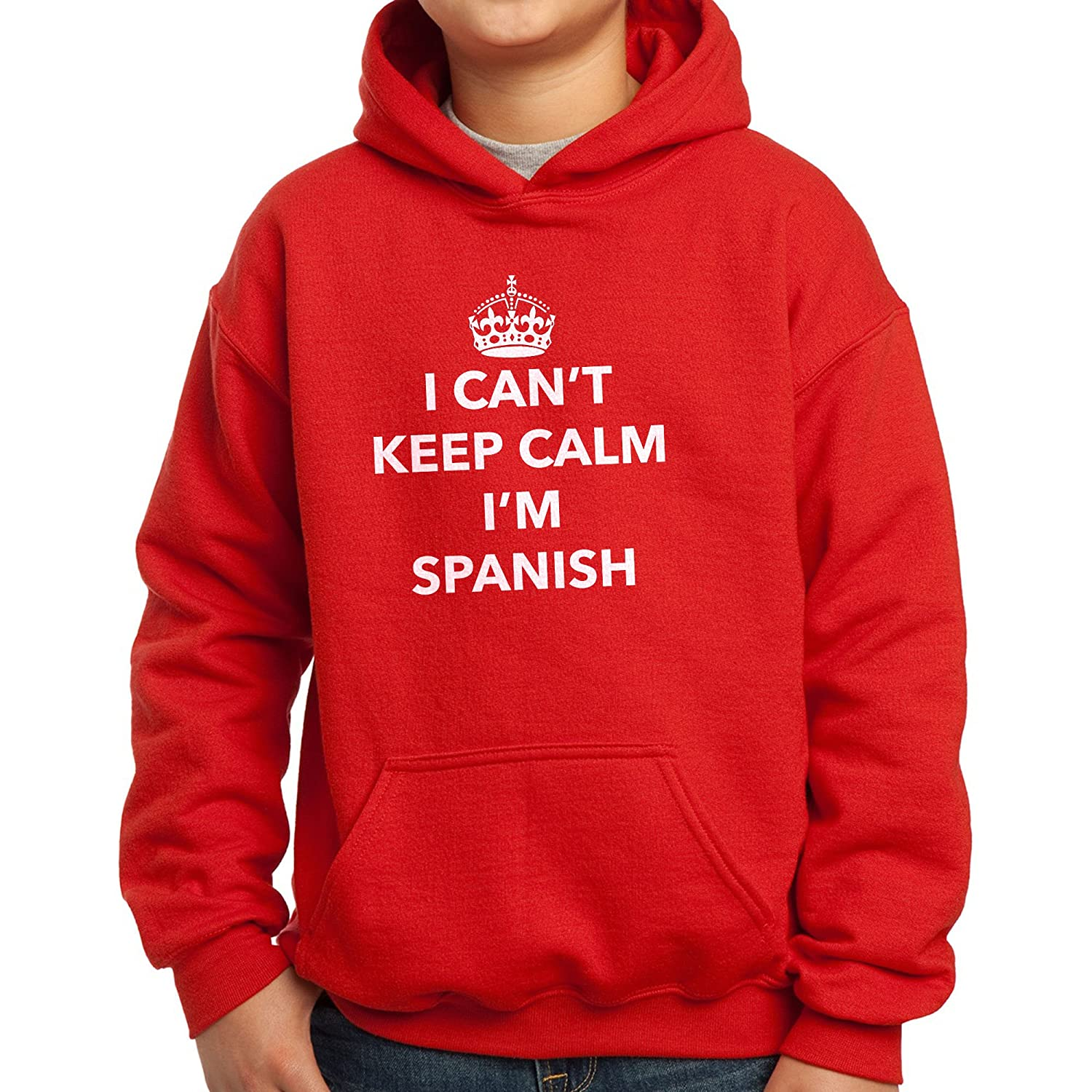 Nutees I Cant Keep Calm Im Spanish Spain Unisex Kids Hoodie Ages 3-15 Years