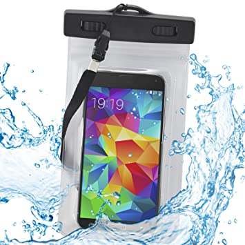 TRIXES Large Waterproof Beach Bag for Phones, MP3 and: Amazon.co ...