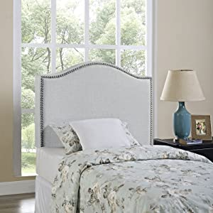 related image of             Modway Curl Linen Fabric Upholstered Twin Headboard