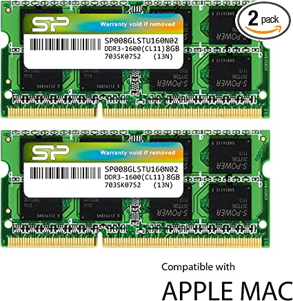 16GB 8GB PC3L-12800S DDR3-1600 204pin 1.35V SODIMM For iMac 5K 27-Inch Mid-2015
