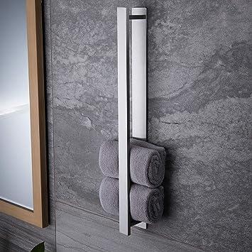 Ruicer Handtuchhalter Ohne Bohren Gästehandtuchhalter Selbstklebend  Handtuchstange für Badezimmer Edelstahl 55CM