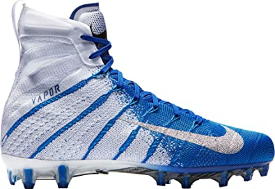 buy popular ef41c 9e006 NIKE Men s Vapor Untouchable 3 Elite Football Cleats (White Blue, ...