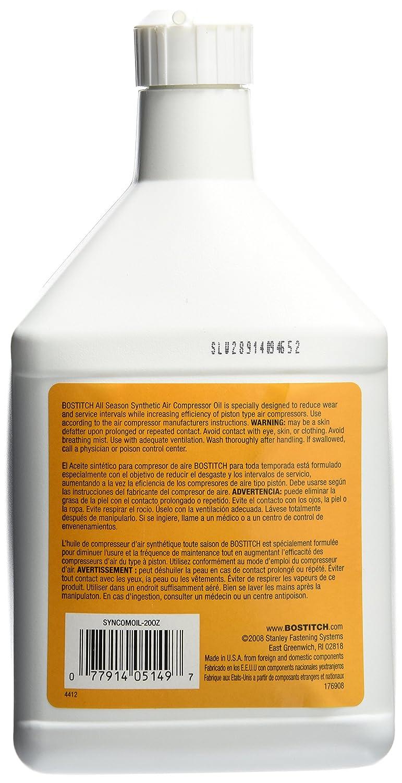 Bostitch syncomoil-20oz sintética aceite del compresor de BOSTITCH: Amazon.es: Bricolaje y herramientas