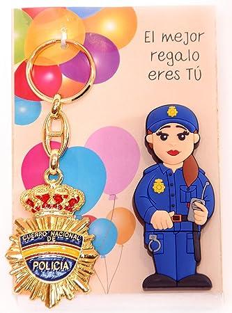 POLICIA Nacional ESPAÑOLA Femenina USB de 16gb. de Memoria con Llavero DE Placa DE POLICIA.: Amazon.es: Electrónica