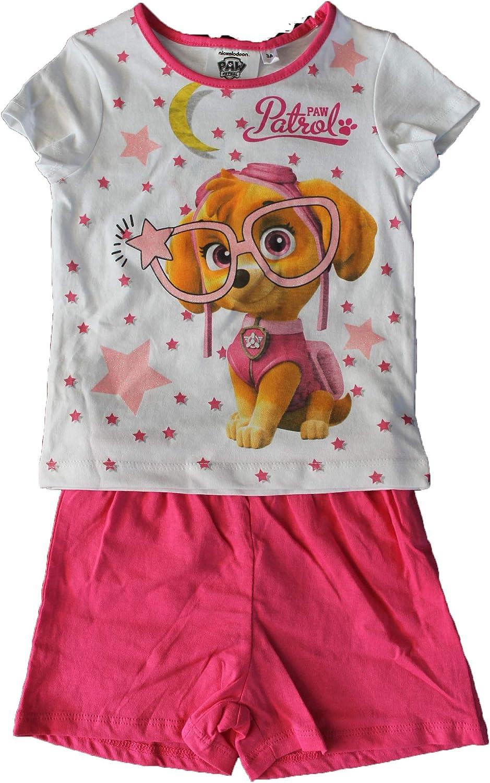 Nickelodeon-Beau Pyjama Pyjashort Pat ptrouille-Rose et Blanc-Fille