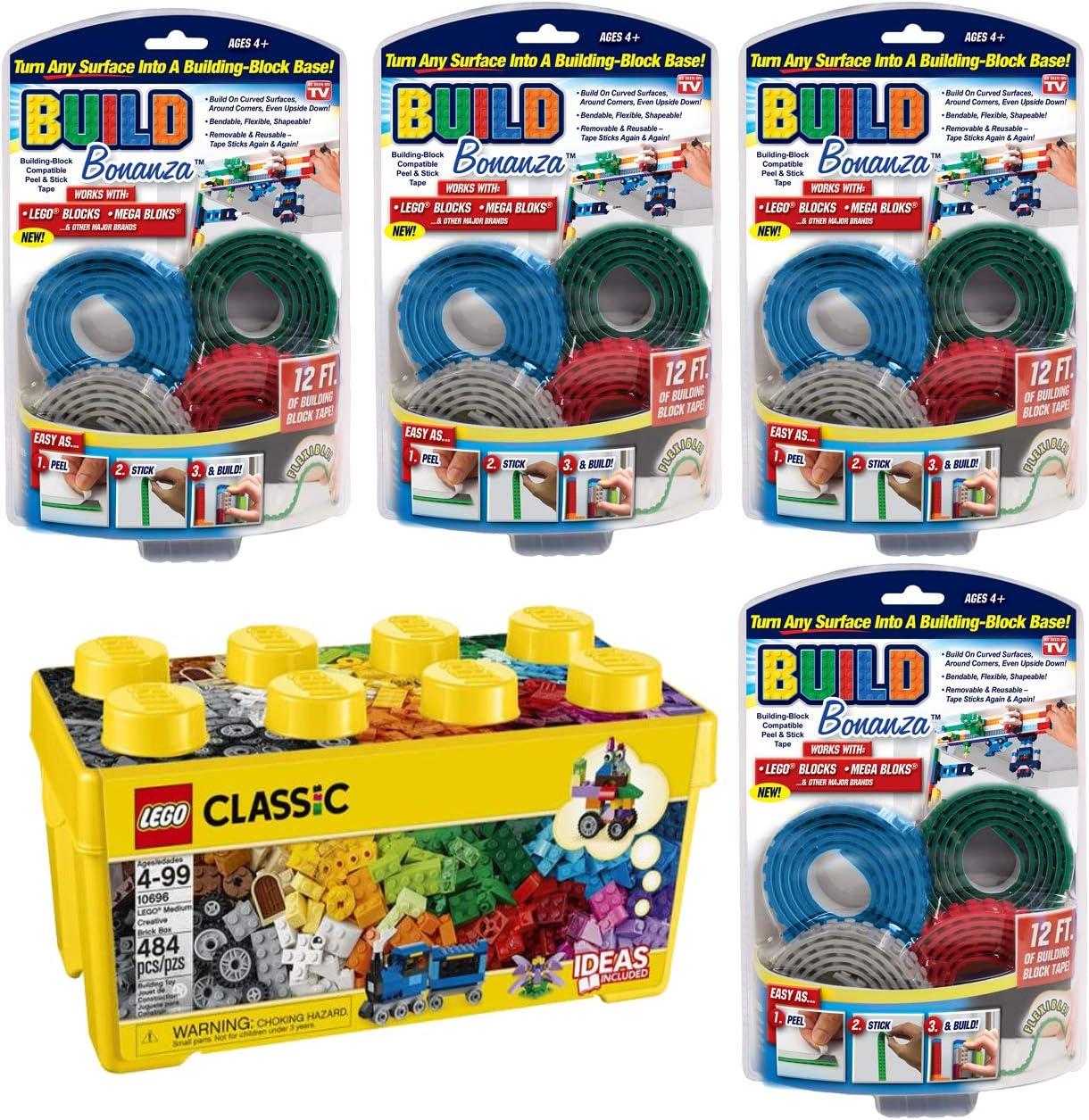 As Seen On TV Lego - Caja de Ladrillos Creativa Mediana con 4 Bloques de construcción Flexibles: Amazon.es: Juguetes y juegos